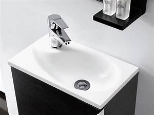 Waschbecken Für Gäste Wc : badm bel g ste wc oporto waschbecken waschtisch handwaschbecken wenge weiss 40 ebay ~ Frokenaadalensverden.com Haus und Dekorationen