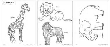 alphabet printables safari or savanna animals printable templates coloring pages firstpalette