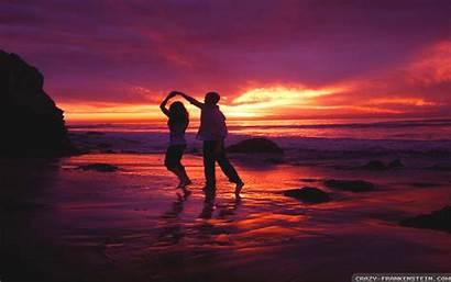 Wallpapers Sunset Couple Couples Romantic Dancing Dance