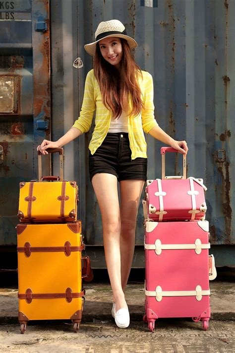 Personality Vintage Style Luggage Men And Women Travel