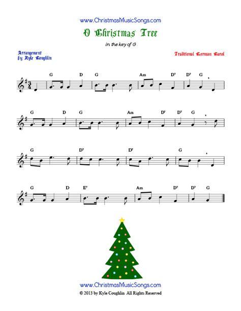 o christmas tree free sheet music