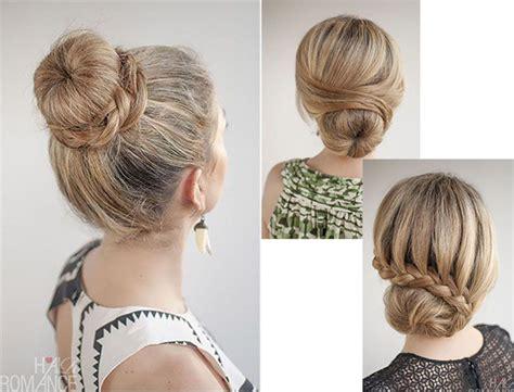 coiffures faciles avec  donut hair pinterest