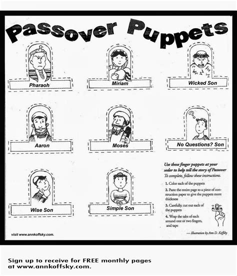 kar ben publishing 8 passover activities for of all ages 775 | Passover puppets