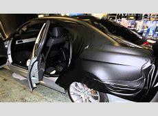 BMW e91 Matt Black vinyl wrap by bassboxcaraudio YouTube