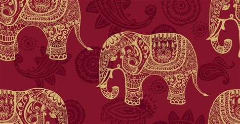 Indian Backgrounds by Indian Elephants Seamless Pattern Wallpaper Seamless
