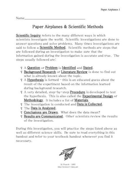 scientific method story worksheet answer key pinterest the world s catalog of ideas