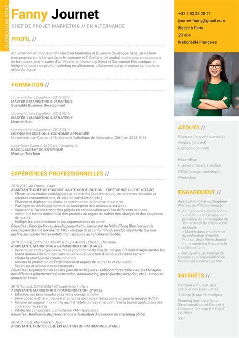 Cv Pour étudiant by Cv Alternance Mycvfactory Pour L Etudiant