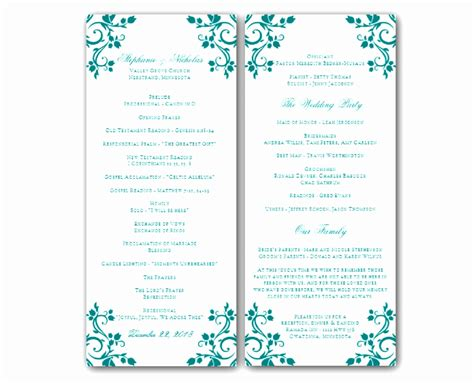 free printable wedding program templates word 6 downloadable wedding program templates free awoop templatesz234