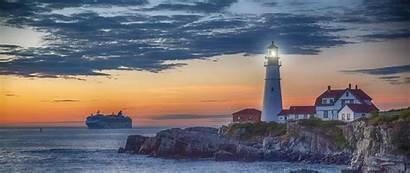 Portland Maine Lighthouse Cape Elizabeth 4k Desktop