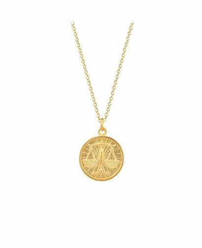 Gold Necklace Plated Silver Taurus Libra Zodiac