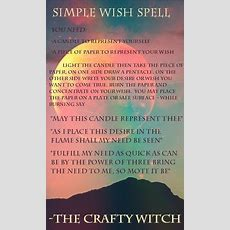 The Crafty Witch Simple Wish Spell  Foodrecipesideas )  Wish Spell, Wicca, Witchcraft