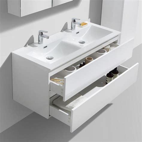 Meuble Salle De Bain 120 Cm Le Monde Du Bain Meuble Salle De Bain Design Vasque Siena Largeur 120 Cm Blanc L
