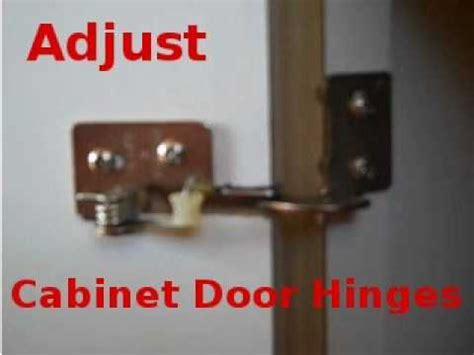 adjusting cabinet door spring hinges youtube