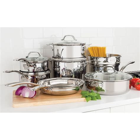 viking professional  piece stainless steel pc tri ply