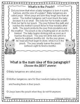 main idea practice pack nonfiction passages main idea main idea nonfiction 3rd grade reading