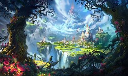 Floating Island Castle Saga Wormworld Suicune Wallpapers