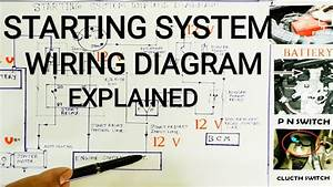 Starting System Wiring Diagram Explained  Starting System