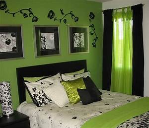 Black and green bedroom fresh bedrooms decor ideas for Black white and lime green bedroom ideas