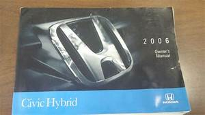 2006 Honda Civic Hybrid Used Owner U0026 39 S Manual Owners No Case