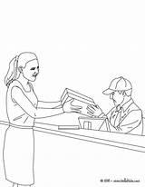 Coloring Colorear Office Dibujos Colorir Desenho Oficina Dibujo Cartero Correios Postman Correos Oficinas Mulher Nos Imprimir Hellokids Ausmalen Zum Profesiones sketch template