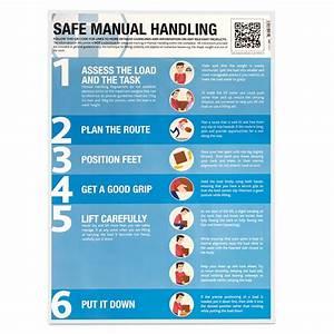 Safe Manual Handling Guidance Poster Laminated 420mm X 594mm