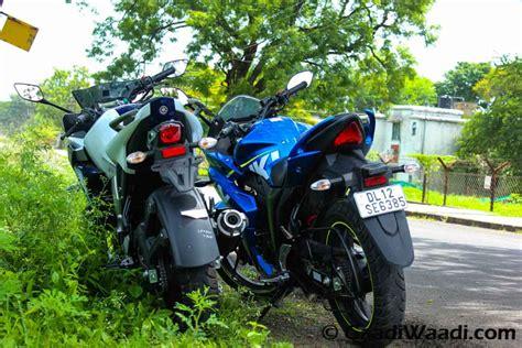 Yamaha Suzuki Of by Yamaha Fazer Fi Vs Suzuki Gixxer Sf Comparison Review
