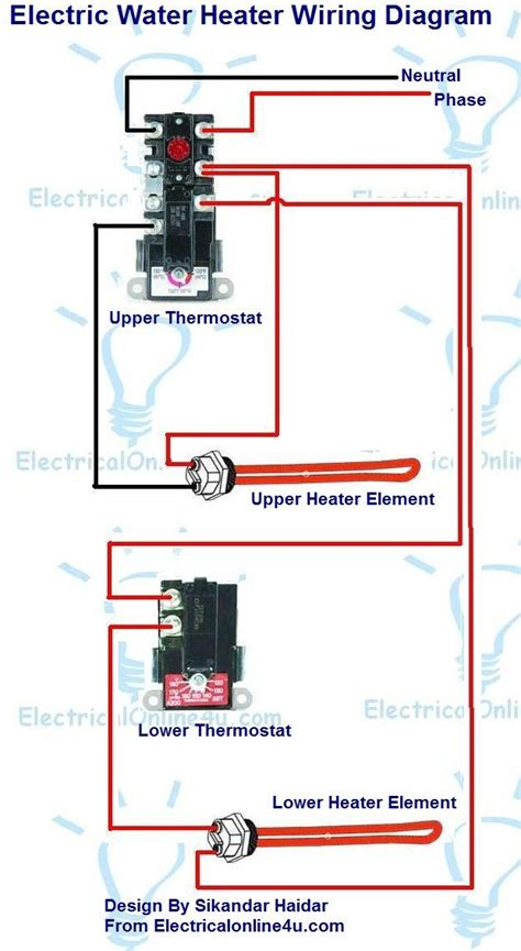 Electric Water Heater Diagram by Electric Water Heater Wiring With Diagram Electrical