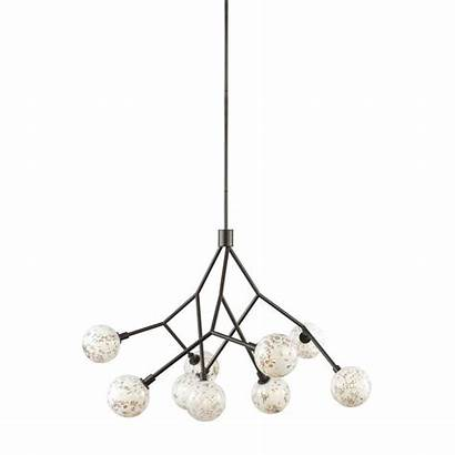Malena Glass Chandelier Lighting Lbl Homedepot Bronze