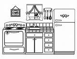 Coloring Colouring Printable Utensils Template Tools Colornimbus Fairy sketch template
