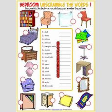 Bedroom Unscramble The Words Esl Worksheets For Kids  Language Art  English Worksheets For