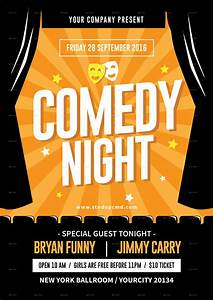 comedy night flyer by tokosatsu graphicriver With comedy night poster template