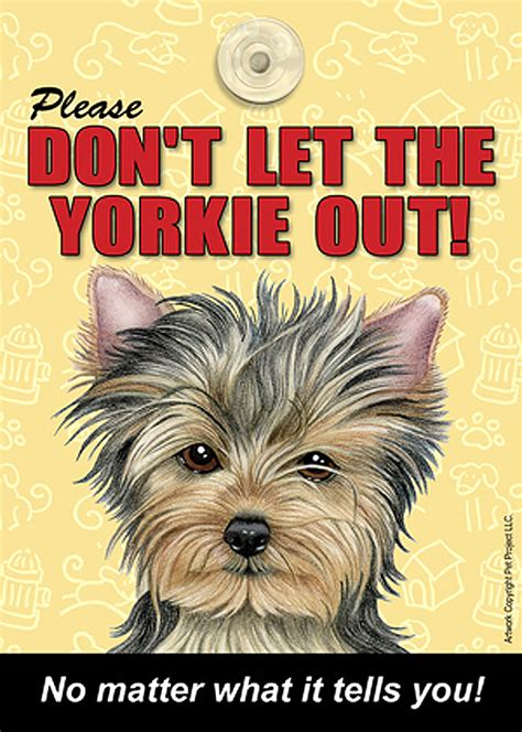 yorkie dont   breed  sign suction cup