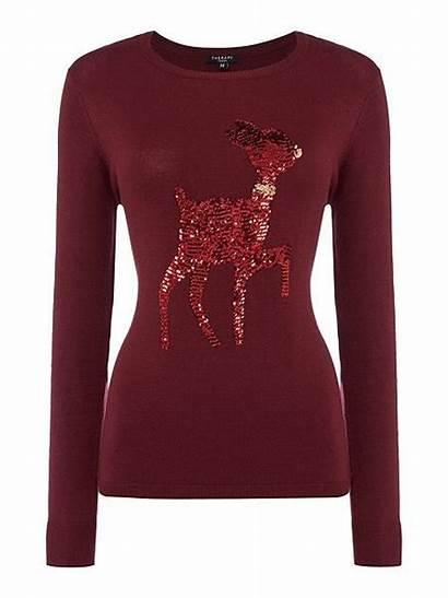 Jumper Sparkly Reindeer Sequin Christmas Jumpers Xmas