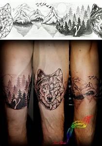 Tatouage Loup Graphique : tattoo trait perso mes tatouages ~ Mglfilm.com Idées de Décoration