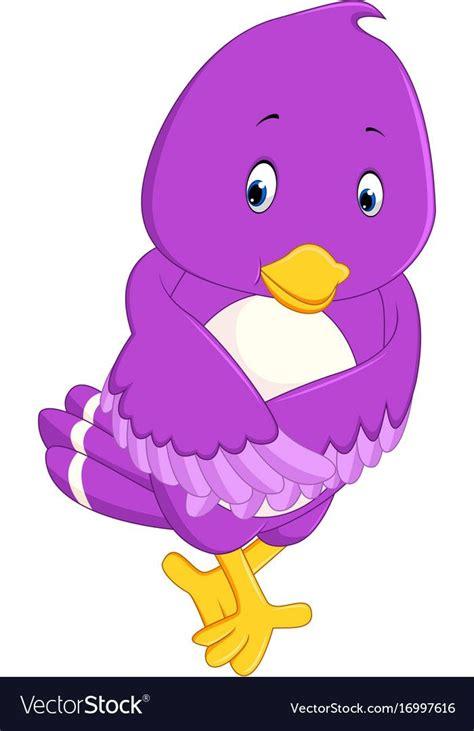 pin  rowida nabil  tabaa purple bird cartoon cute