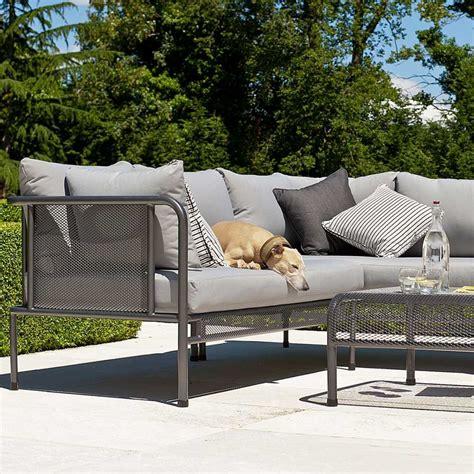 coussin canape jardin canapé de jardin avec coussins haut de gamme en acier pour