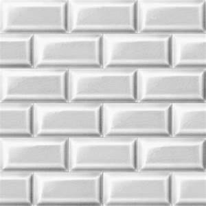 Papier Peint Vinyl Imitation Carrelage : papier peint carrelage metro blanc trompe l 39 oeil achat ~ Premium-room.com Idées de Décoration