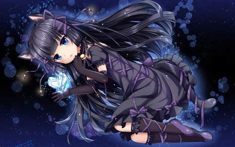 Black Cat Wallpaper Anime - 1920x1200 anime cat black hair