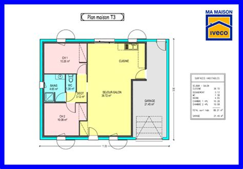 plan de maison avec cuisine ouverte sejour et cuisine ouverte 4 constructeurvendee 187