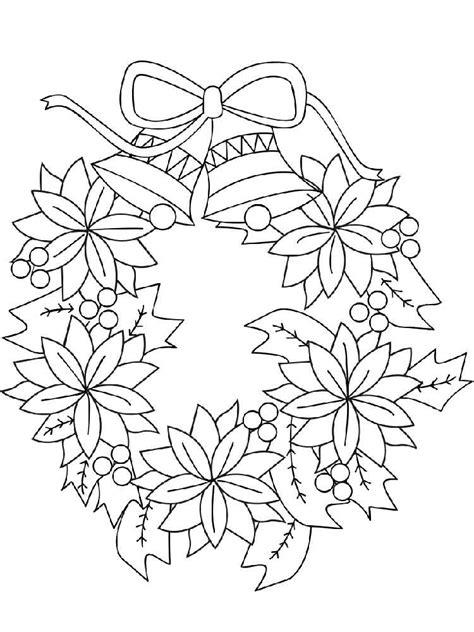 Kleurplaat Krans by Wreath Coloring Pages Free Printable Wreath Coloring Pages