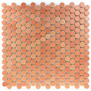 Mosaik Fliesen Rund : keramik knopf mosaikfliese rund terracotta tm33103m ~ Watch28wear.com Haus und Dekorationen