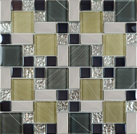 Crystal Glass Tile Sheets Hand Painted Kitchen Backsplash