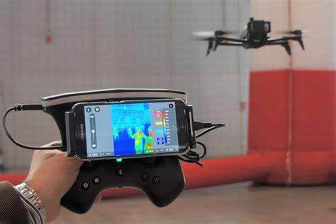 review parrot bebop pro thermal drone  flir camera