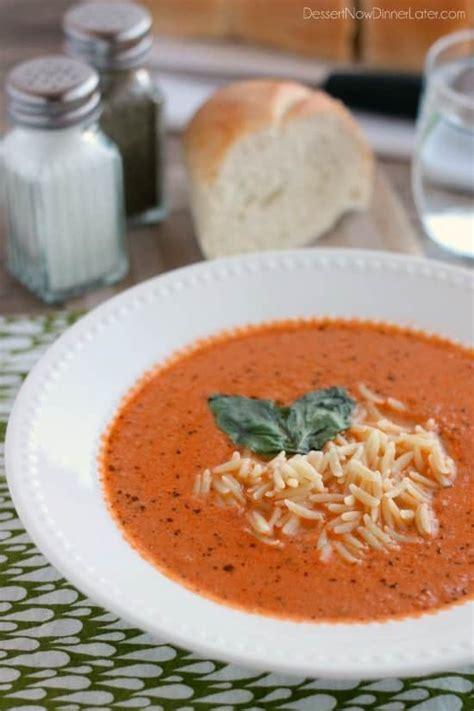 Copycat Zupas Tomato Basil Soup - Dessert Now, Dinner Later!