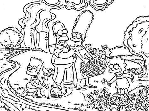 29 Best Simpson Coloring Images On Pinterest