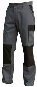 Destockage Vetement De Travail : pantalon de travail gris noir poche genouill re coton ~ Dailycaller-alerts.com Idées de Décoration