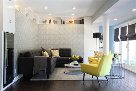 Yellow Gray And Turquoise Living Room by Yellow And Gray Living Room Contemporary Living Room