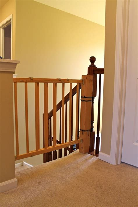 banister safety how to install a stair safety gate without ruining your