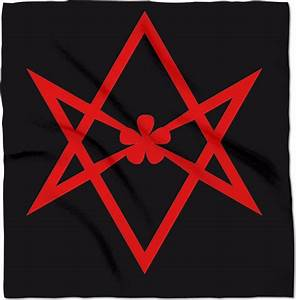"Thelema Unicursal Hexagram 24"" x 24"" Altar Banner Cloth"