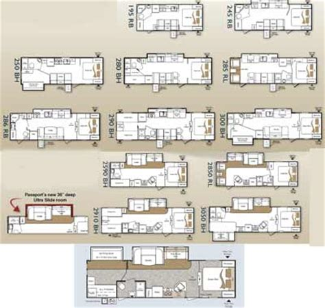 prowler travel trailer floor plans keystone passport